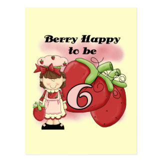Brown Berry 6th Birthday Tshirts and Gifts Postcard