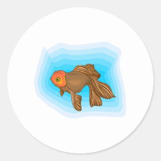 Brown Betta Fish Sticker