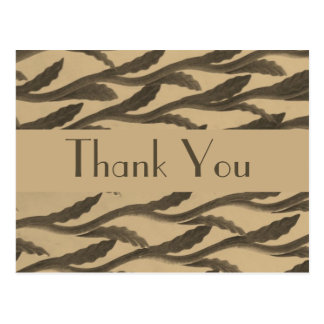 brown biege branches Thank You Postcard