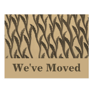 brown biege branches We've Moved Postcard