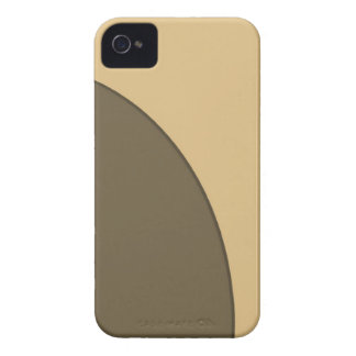 Brown biege circle iPhone 4 case