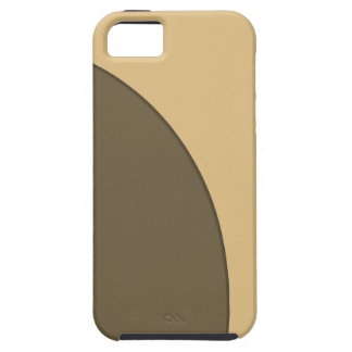 Brown biege circle iPhone SE/5/5s case