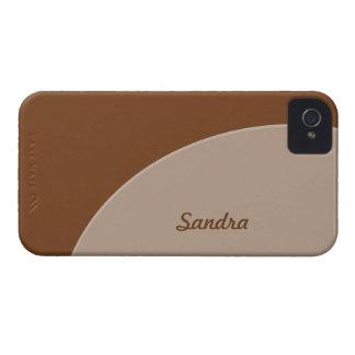 Brown Biege Simple Circle iPhone 4 Case
