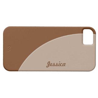 Brown Biege Simple Circle iPhone SE/5/5s Case
