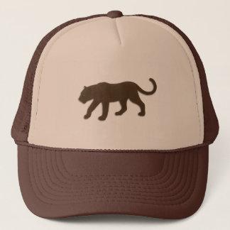 Brown Big Cat Trucker Hat