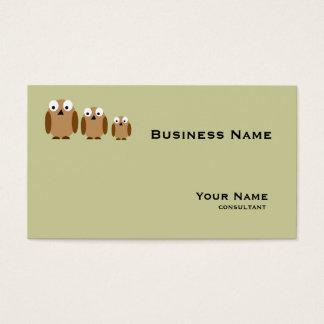 brown bird business card