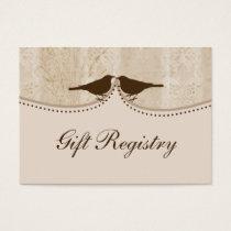 brown bird cage, love birds Gift registry  Cards