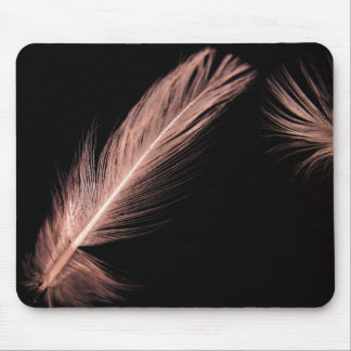 brown bird feathers mouse pad
