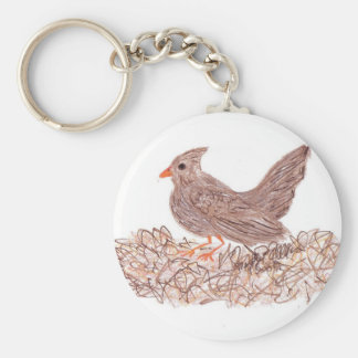 Brown Bird Keychain