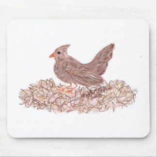 Brown Bird Mouse Pad
