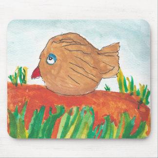 Brown Birdie Mouse Pad