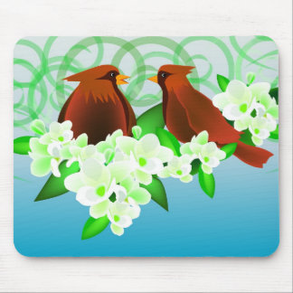 Brown Birds and Fresia Mouse Pad