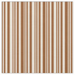 [ Thumbnail: Brown & Bisque Striped/Lined Pattern Fabric ]