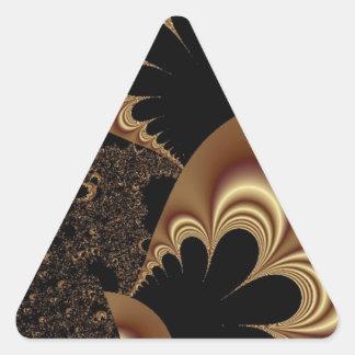 Brown Black Balloon Flower Petal Fractal Art Gifts Triangle Sticker
