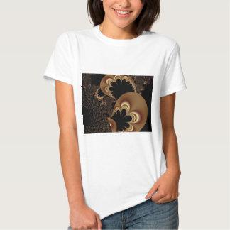 Brown Black Balloon Flower Petal Fractal Art Gifts Tee Shirt