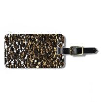 Brown Black Cheetah Abstract Bag Tag