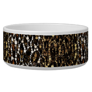Brown Black Cheetah Abstract Bowl