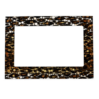 Brown Black Cheetah Abstract Magnetic Frame