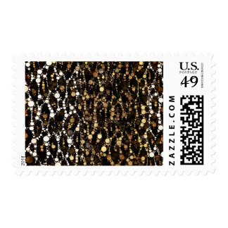 Brown Black Cheetah Abstract Postage Stamp