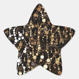 Brown Black Cheetah Abstract Star Sticker