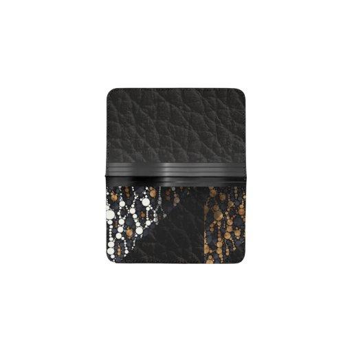Brown black cheetah bling business card holder zazzle for Bling business card holder