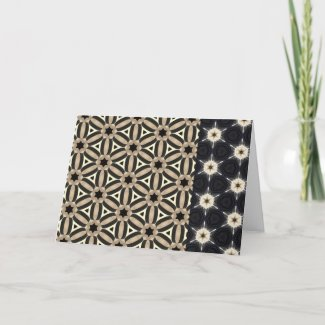 Brown Black Chic Trendy Pattern Card
