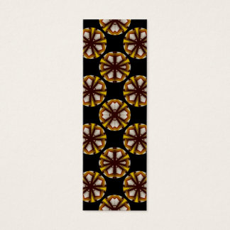 brown black circles bookmarks mini business card