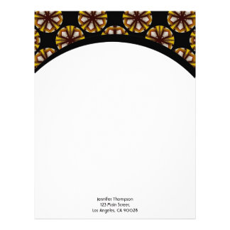 brown black circles letterhead