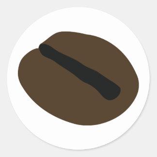 brown black coffee bean classic round sticker