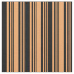 [ Thumbnail: Brown & Black Colored Pattern Fabric ]