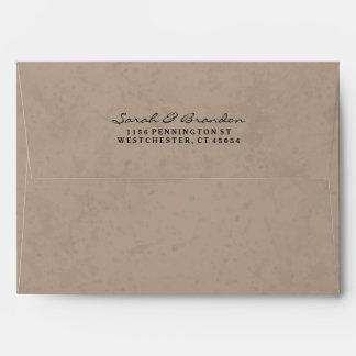 Brown & Black Custom Invitation Envelope