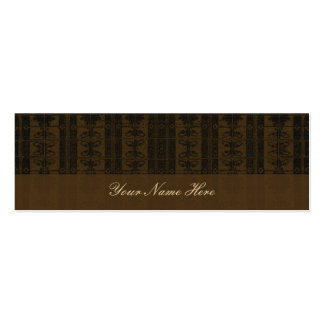 Brown black Elegant Pattern Double-Sided Mini Business Cards (Pack Of 20)