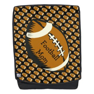 Brown Black Football Mom Sports Boldface Backpack