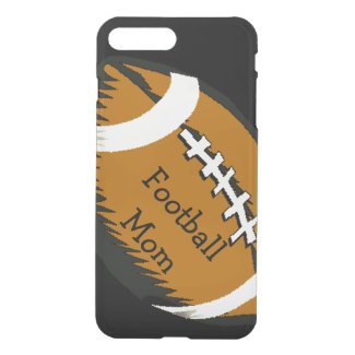 Brown Black Football Mom Sports iPhone 7 Plus Case
