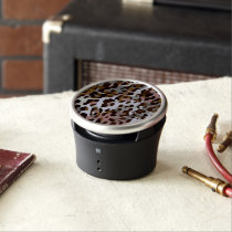 Brown Black Grey Abstract Cheetah Bluetooth Speaker