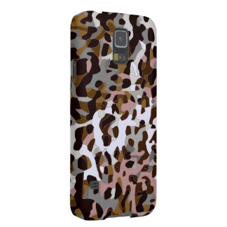 Brown Black Grey Abstract Cheetah Galaxy S5 Cover
