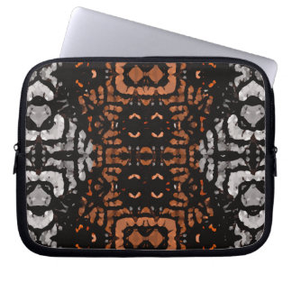 Brown Black Grey Abstract Pattern Computer Sleeve