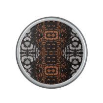Brown Black Grey Abstract Pattern Speaker