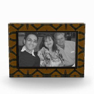 brown black pattern photo frame awards