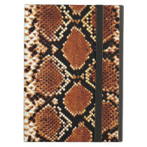 Brown black snake skin effect iPad air case