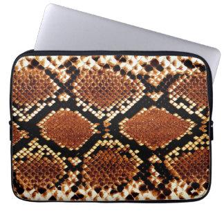 Brown black snake skin effect Laptop Sleeve