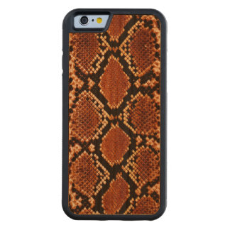 Brown black snake skin effect Wood case