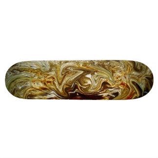 Brown Black Swirl Skateboard