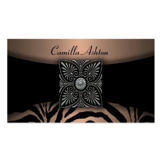 Brown & Black Zebra Business Cards