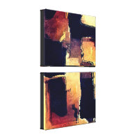 Brown Blocks Graphics Canvas Print