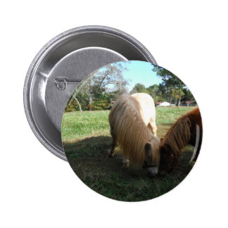 """Brown Blond,"""" Miniature Horses""""Two Little Ponies Button"""