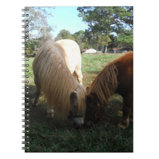 """Brown Blond,"""" Miniature Horses""""Two Little Ponies Spiral Notebook"""