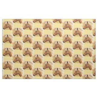 Brown Blonde Horse in Sun Fabric