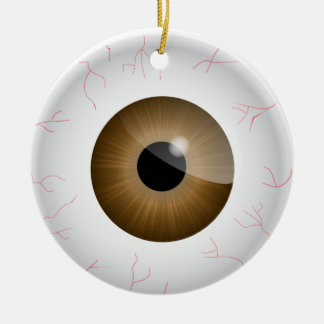 Brown Bloodshot Eyeball Ornament