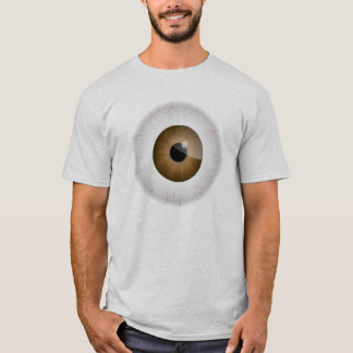 Brown Bloodshot Eyeball Shirt